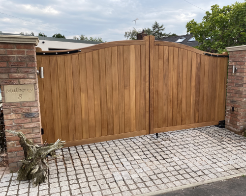 Electric Automated Wooden Gates